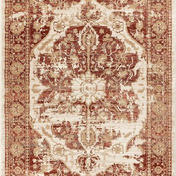 2918 Rust Tribal Distressed Persian Area Rugs