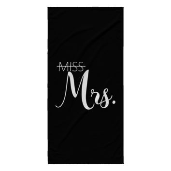 From Miss to Mrs Beach Towel