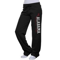 Alabama Crimson Tide Ladies Interlock Pants - Black