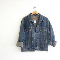 Vintage LEVIS Jean Jacket. Denim Jacket. dark wash Levis Jacket.