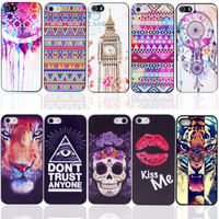 Painted Various Pattern Phone Hard Back Skin Case Cover for Apple IPhone 4 4S 4G