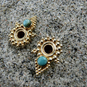 Brass Tunnels⎜Turquoise⎜4 mm