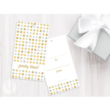 Party Dots Gift Tags (Set of 12)