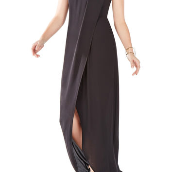 BCBGMAXAZRIA 'Dries' One-Shoulder Crêpe de Chine Gown