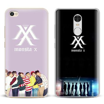 Monsta X KPOP Boy Group Coque Phone Case Shell Cover For Xiaomi Redmi Note 4 4X 5A 6 6A PRO Mi 8 5 5S PLUS Max A1 Note 2 3