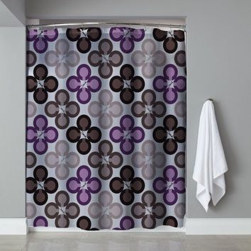 Best Cute Coach Design Purple Logo Pattern Shower Curtain Limited Edition