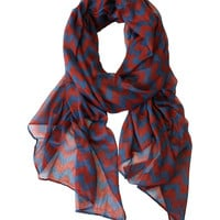 Some of you have to get in on this: Printed Village Blue & Red Chevron Scarf
