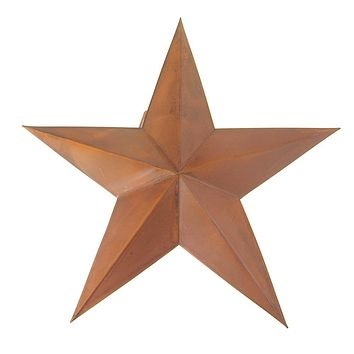 Metal Hanging Rusty Star Christmas Decor, 18-Inch