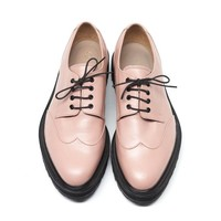 Pale Pink Derby Solid Brogues – INCH2