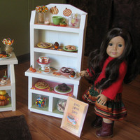 "Baker's Rack and Cake Stand - Sweet Shop Cafe / Bakery Set for American Girl / 18"" dolls - MAY 2014 SHIPPING ONLY"