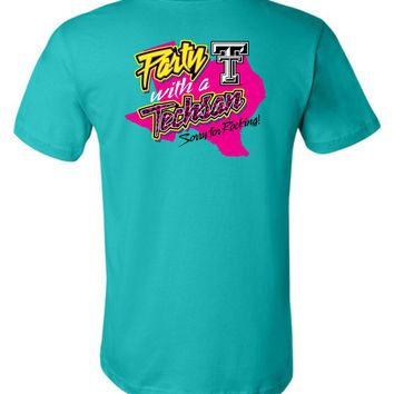 Official NCAA Texas Tech University Red Raiders TTU Masked Raider WRECK EM! Party With a Techsan Sorry for Rocking Unisex T-Shirt - TEXT1040-c