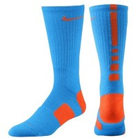 Youth Nike Elite Basketball Crew Socks - Blue/Orange