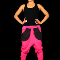 Capital G Hot Pink Harem Streetwear Sweatpants at Threader® Streetwear, Hip Hop Clothing, and Urban Clothing