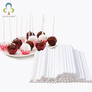 "2.75""(7cm) Paper Sticks for Cake Pop Lolipop Mini Cupcake Muffin 100pcs/lot cake tools cooking kitchen tools accessories"