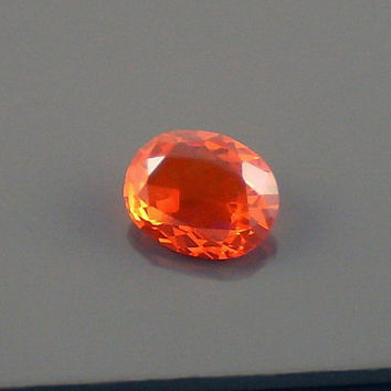 Fire Opal: 1.81ct Red Orange Oval Shape Gemstone, Loose Natural Hand Made Mexican Faceted Precious Gem, OOAK Cut Crystal Jewelry Supply O50