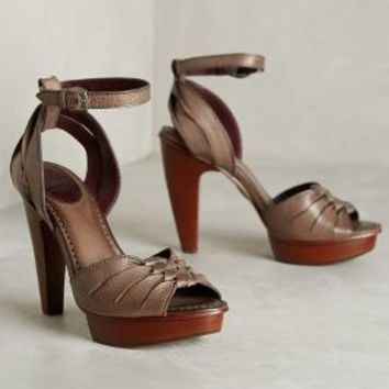 Frye Samara Twisted Heels Dark Grey