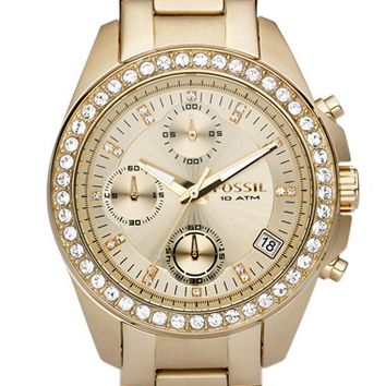 Women's Fossil Crystal Topring Watch, 38mm