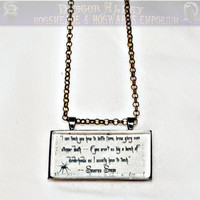 Limb and Fingers Jewelry Shop Severus Snape Quote 2 by DiagonAlley