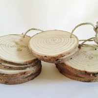 Wood Ornaments, Wood Slices, Wood Discs, Tree Slices, Blank Wood Rounds, Craft Wood Projects