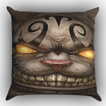 Alice Madness Returns Cheshire Cat Z0999 Zippered Pillows  Covers 16x16, 18x18, 20x20 Inches