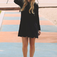 Sweet Little Suede Dress in Black