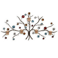Color Votive Tree Wall Sconce