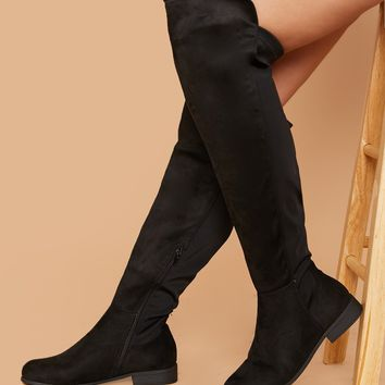 Wide Fit Over The Knee Stretch Boots