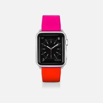 Pink and red  - Bicolor collection Apple Watch Band (38mm)  by WAMDESIGN | Casetify