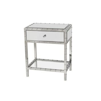 Studded Mirrored Nightstand | Overstock.com Shopping - The Best Deals on Nightstands