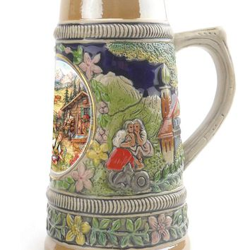 German Spring Ceramic Shot Beer Stein Collectible