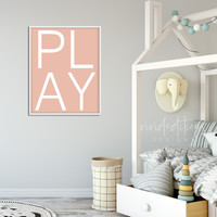 Playroom 'Play' Print - (available in 5 colors)