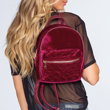 Be You Quilted Backpack - Burgundy