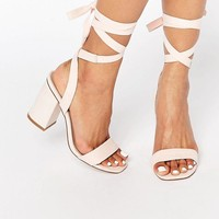 ASOS | ASOS HANDSHAKE Lace Up Heeled Sandals at ASOS