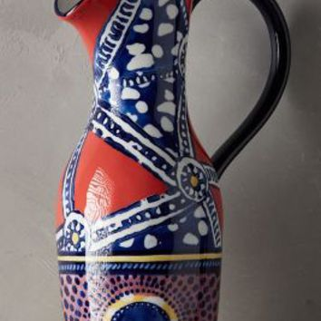 Habari Pitcher by Anthropologie in Red Size: Pitcher Serveware