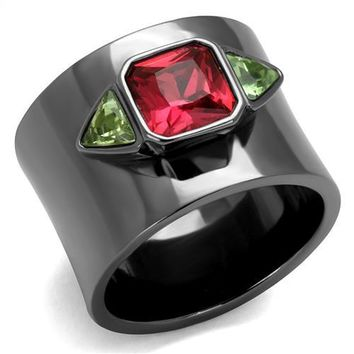 Black Thick Band Ring