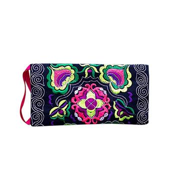 Vintage Women's Handmade Embroidered Clutch Bag Purse Wallet
