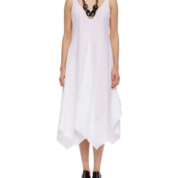 Organic Linen Scoop-Neck Tank Dress,