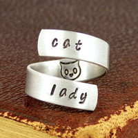 Cat Lady - Pets - Adjustable Aluminum Wrap Ring