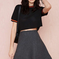 Haley Knit Skirt - Dark Gray /