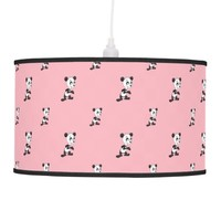 Cartoon pandas seamless pattern Lamp