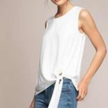 Front Knot Top-Off White