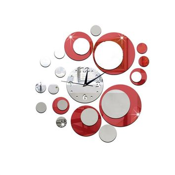DIY 3D Acrylic Wall Clock Mirror Stickers for Home Living Room Office Decor