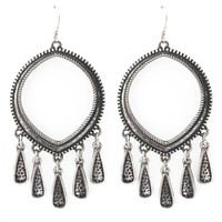 Ritual Hoop Earrings In Silver