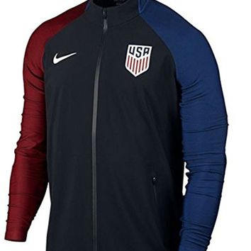 Nike USA Elite Revolution Woven 3 Soccer Jacket (Black)