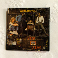Vintage The WHO  Pete Townshend who are you vintage vinyl album Square Pin Pinback Button
