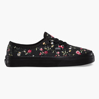 Vans Floral Dots Girls Shoes Black/Black  In Sizes