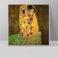 Kiss Painting By Gustav Klimt Wall Art Pictures Printed On Canvas For Living Room Classical Canvas Printing Poster No Frame