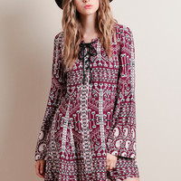 Faultless Aztec Dress By Somedays Lovin