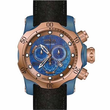 Invicta 15999 Men's Venom Chronograph Rose Tone Bezel Blue Titanium Dial Dive Watch