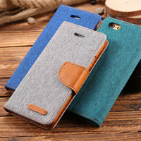 For Samsung Galaxy S6 S7 Edge Case Hit Color Card Slot PU Leather Wallet Cases Cover For iPhone 6 6S For iPhone 7 Plus i5 5S SE